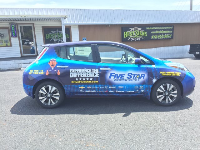 five star nissan leaf body wrap