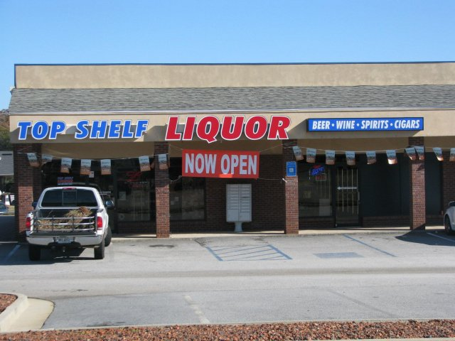 top shelf liquor